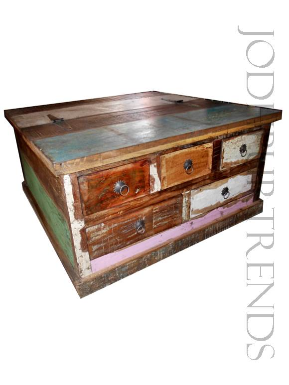 Coffee Table in Reclaimed Wood | Wholesale Furniture India