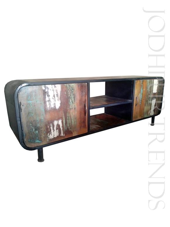 Loft-Style Reclaimed TV Unit | Loft Style Furniture