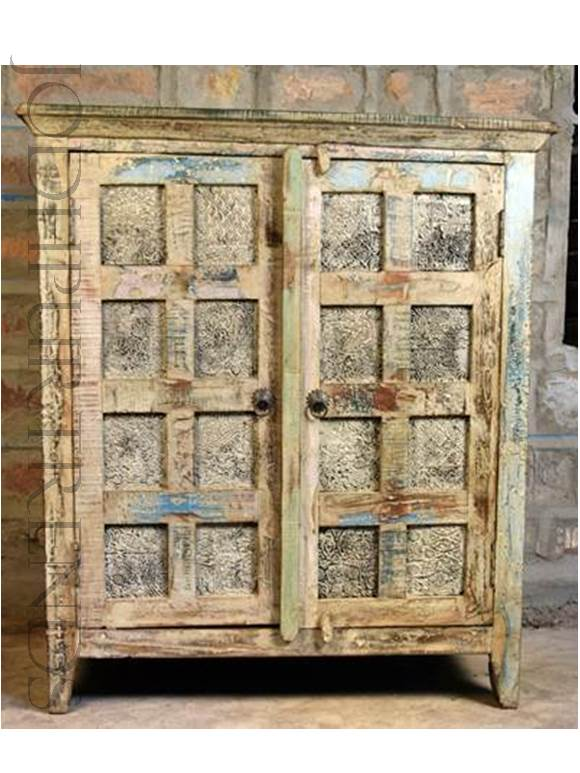 Vintage Indian Cabinet | Indian Hand Carved Furniture