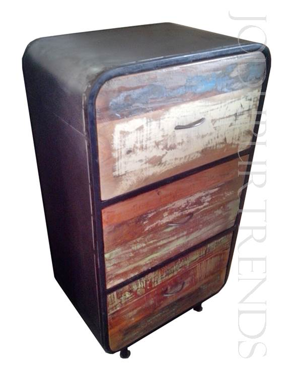Vintage Bedside | Wholesale Rustic Reclaimed Wood Furniture