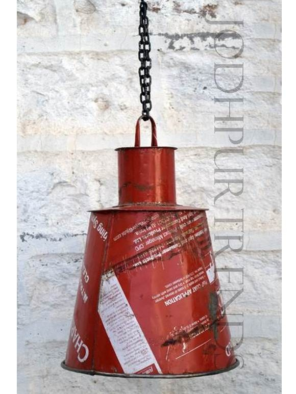 Rustic Hanging Lamp in Red | Rustic Lamps & Lights