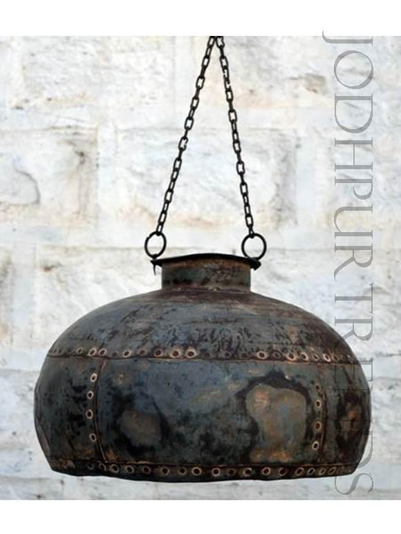 Rustic Indian Pendant Lamp | Rustic Industrial Furniture