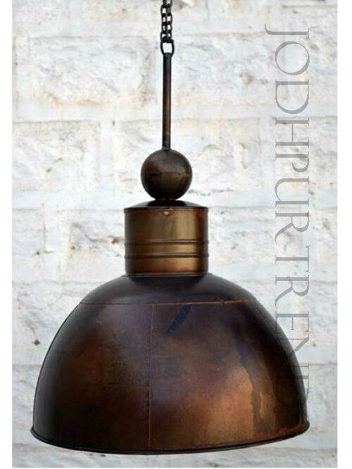 Copper Pendant Hanging Lamp | Antique Rustic Furniture