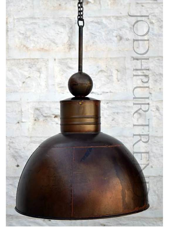 Copper Pendant Hanging Lamp | Antique Rustic Furniture