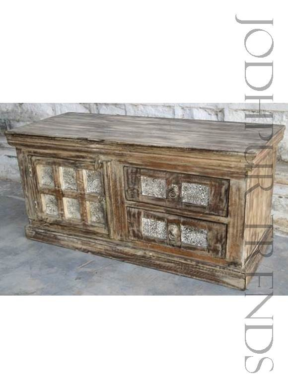 Entertainment Unit in Reclaimed wWood | India Furniture Tv Cabinets