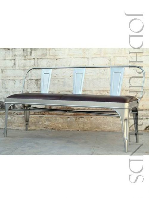 Industrial Bench with Leather Seating | Commercial Furniture Manufacturer