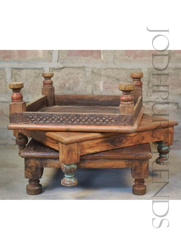 Antique Bajot Floor Seats | Indian Ethnic Furniture