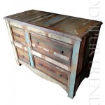 Rustic Drawer Chest   Indian Living Room Furniture