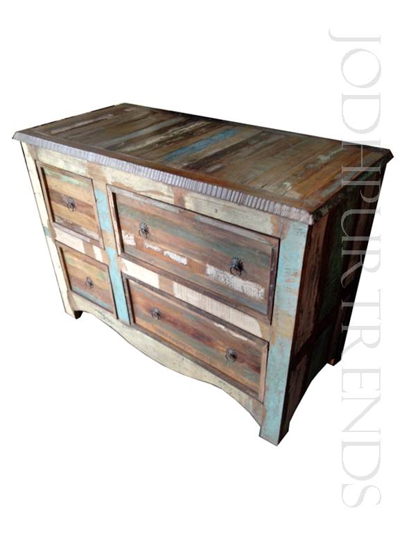 Rustic Drawer Chest | Indian Living Room Furniture