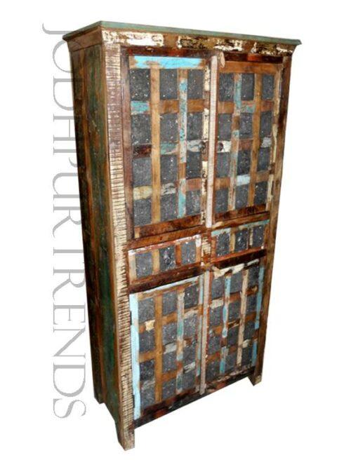 Indian-style Vintage Wardrobe | Wooden Vintage Furniture