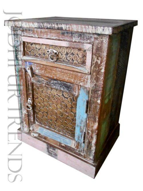 Bedside Table in Indian Design | Vintage Restaurant Furniture