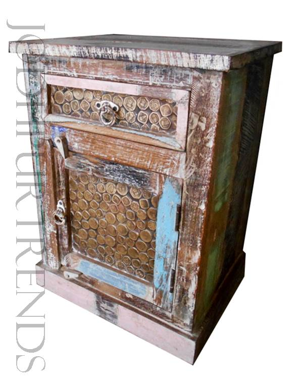 Bedside Table in Indian Design | Vintage Restaurant Furniture