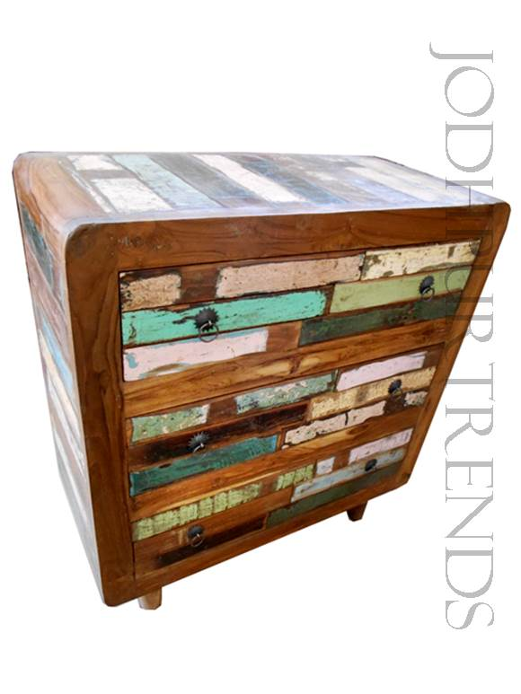 Vintage Industrial Chest of Drawers | Reclaimed Wood Furniture Vintage