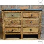 Boho Drawer Chest | Shabby Chic Furniture Wood