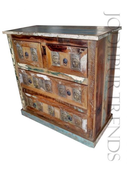 Rustic Distressed Dresser | Reclaimed Wooden Furniture Cabinets
