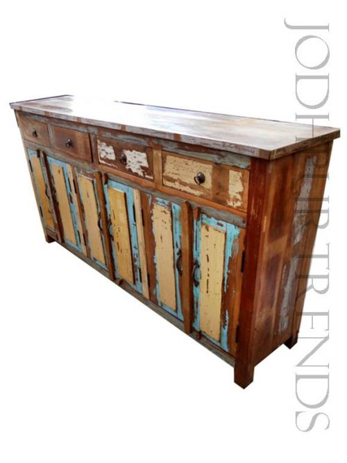 Buffet Table in Reclaimed Wood   Reclaimed Furniture Manufacturer