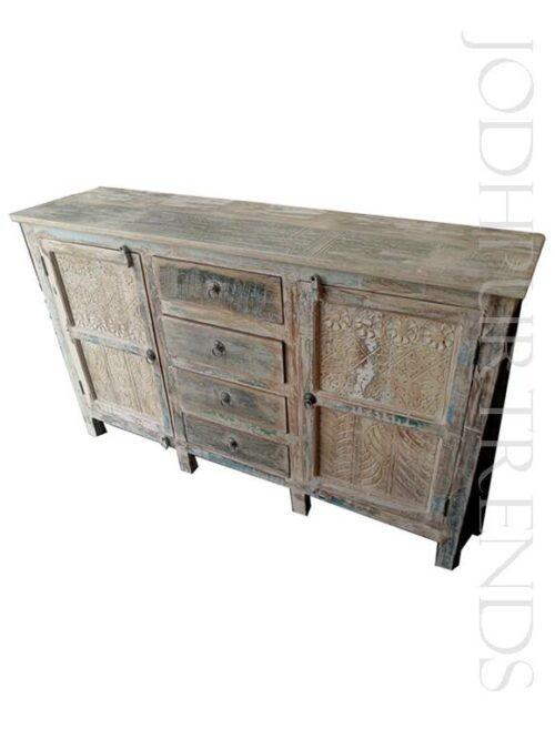 Sideboard in Distressed Design   India Furniture Online