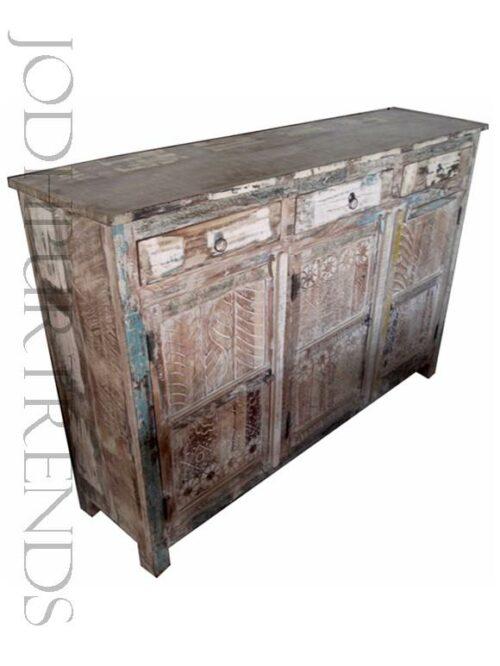 Credenza in Distressed Design   Furniture India