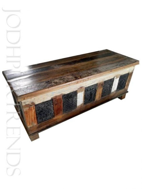 Storage Trunk in Reclaimed Wood | India Import Furniture
