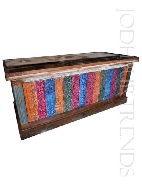 Voyager Trunk | Hand Painted Furniture India