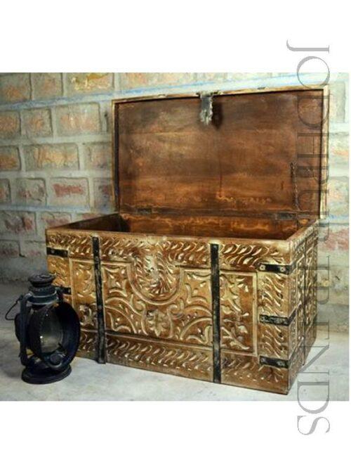 Vintage Storage Trunk | Royal Indian Furniture