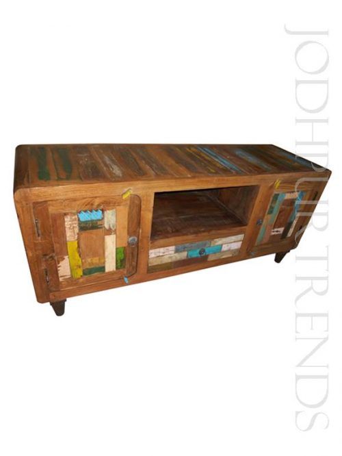 Entertainment Unit in Reclaimed Wood | Wood Furniture Rustic