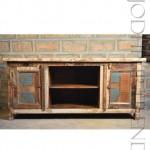 TV Unit in Reclaimed Wood   India Furniture TV Showcase