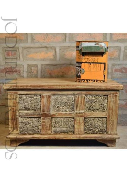 Rustic Indian Storage Trunk | Indian Traditional Furniture