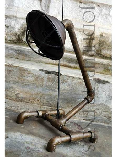 Floor Lamp in Industrial Design | Antique Reproduction Furniture Wholesale
