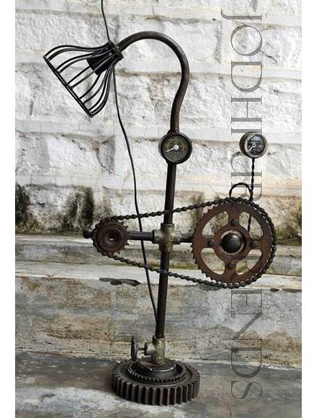 Exposed Filament Floor Lamp | Antique Reproduction Furniture Shop