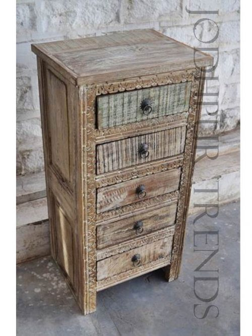 Bedside in Reclaimed Wood | Quality Antique Reproduction Furniture