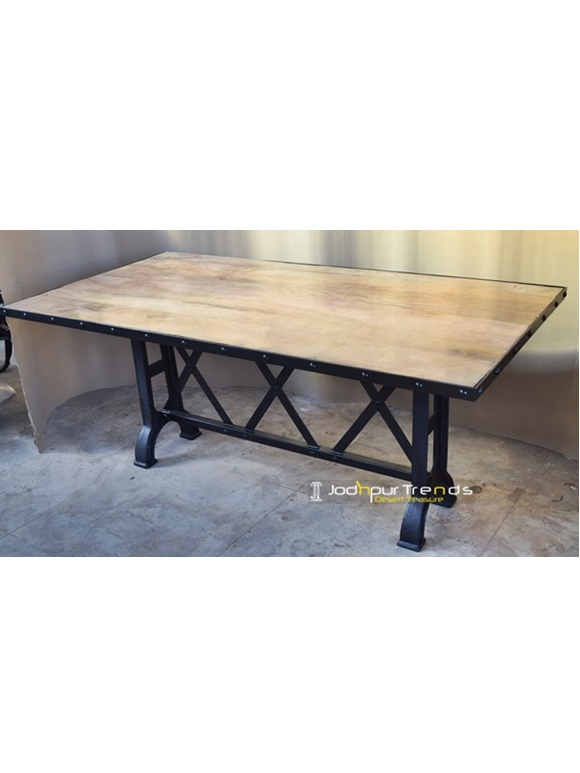 jodhpur trends industrial retro indian furniture cast iron tables