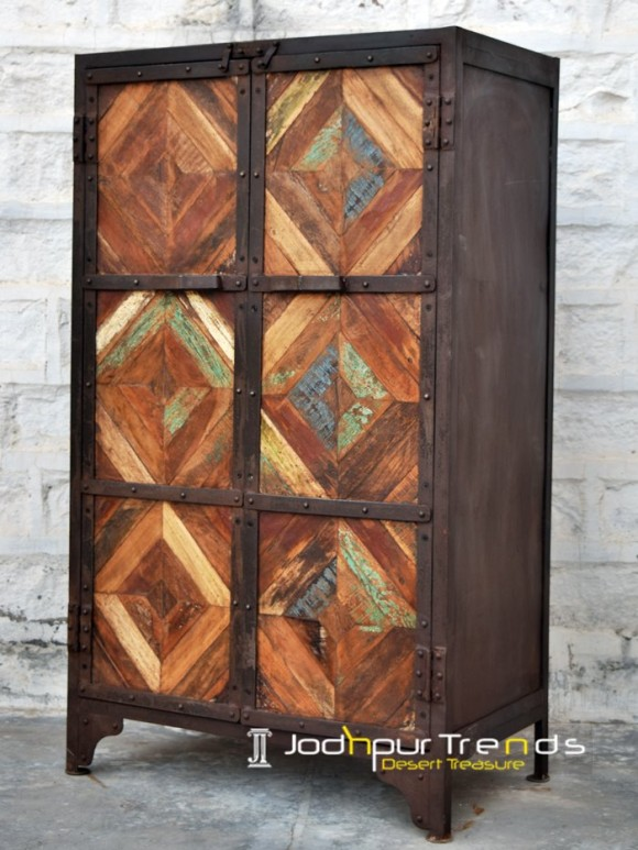 Reclaimed Wood Almirah | Jodhpur Wooden Furniture Designs