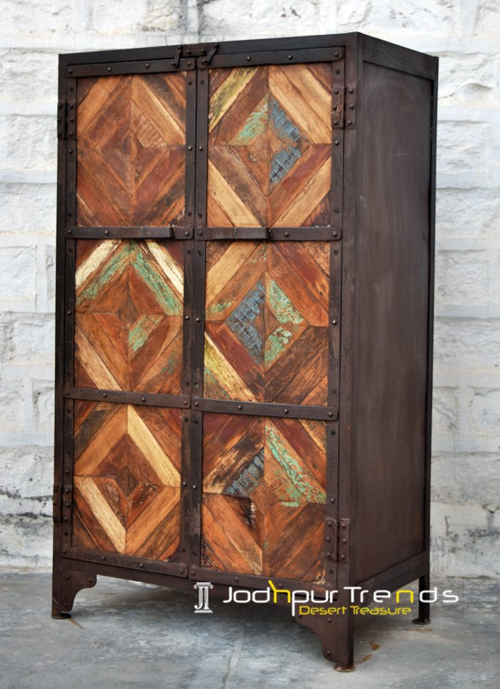 Reclaimed Wood Almirah Jodhpur Wooden Furniture Designs