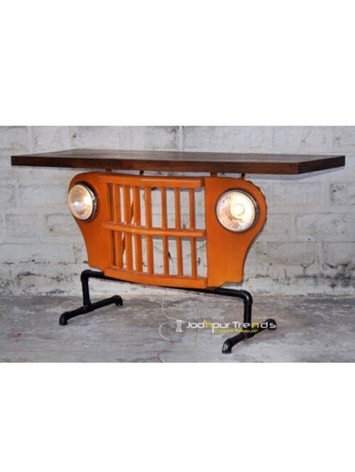Industrial Console in Jeep Design | Jodhpur Rajasthan Furniture