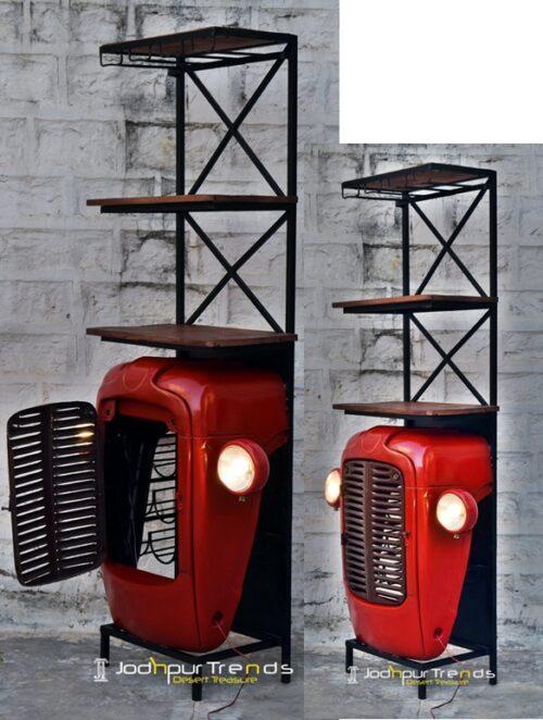tractor wine cabinet , tuktuk wine cabinet, Automobile Furniture )