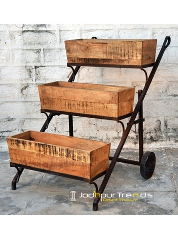 3 Shelf Trolley | Jodhpur Furniture Fair 2013