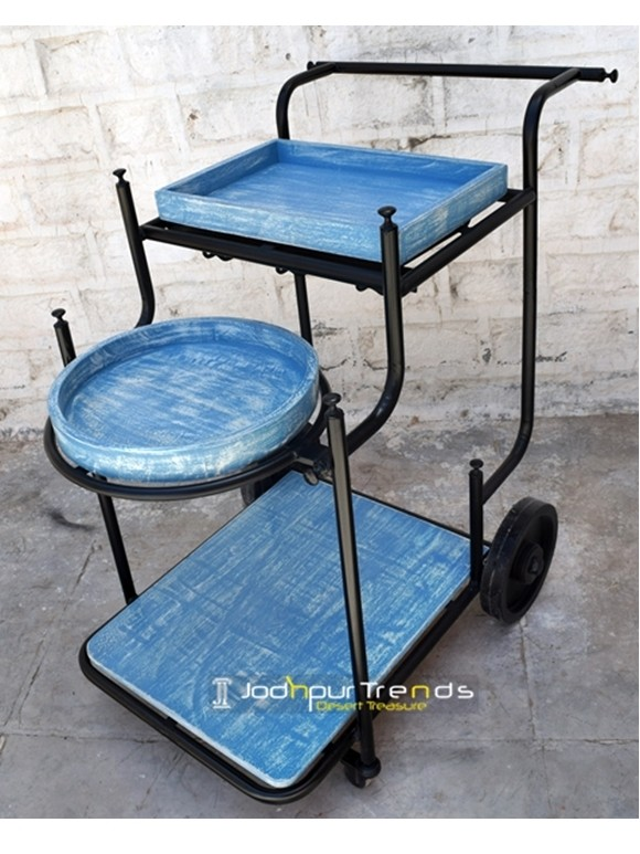 Painted Wooden Cart | Wooden Furniture Manufacturers in Jodhpur