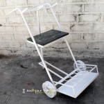Ethnic Indian Cart in White | India Furniture Manufacturers