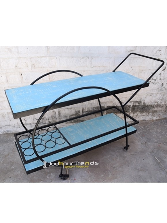 The Jodhpur Blue Trolley | Jodhpur Furniture