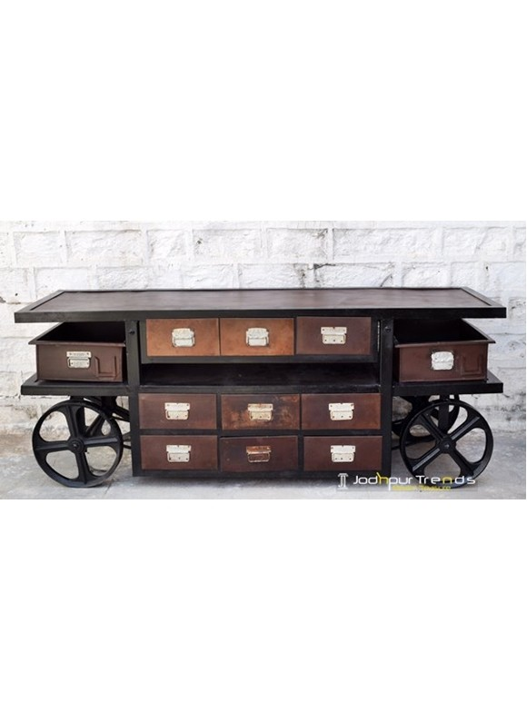 Wheel Cart with Chest of Drawers | Buy Jodhpur Furniture