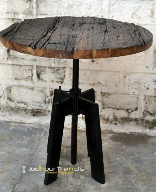 Reclaimed Wood Bar Table | Restaurant Table and Chair Sets