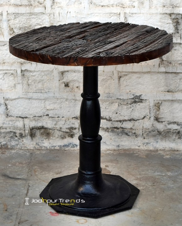 Sleeper Wood Bar Table | Cafe Seating and Tables