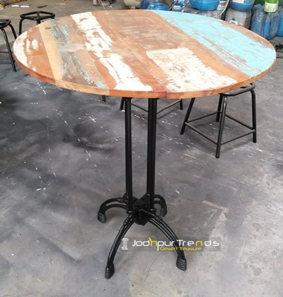 Distressed Wood Bar Table | Restaurant Tables and Chairs Price