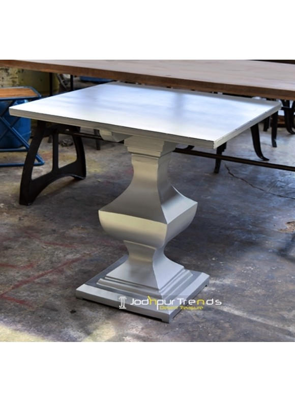 Silver Top Bar Table | Commercial Bar Tables