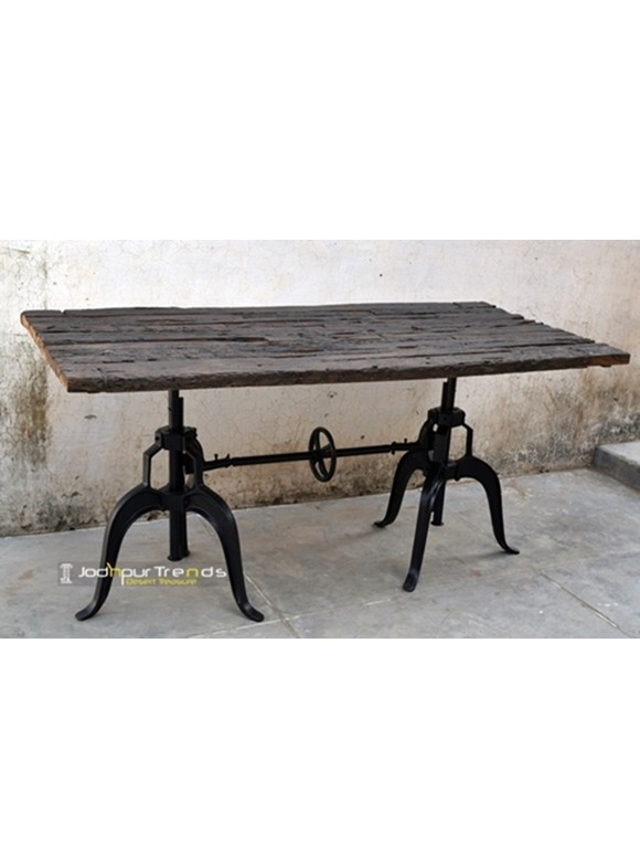 Table in Reclaimed Sleeper Wood | Restaurant Tables and Chairs Wholesale