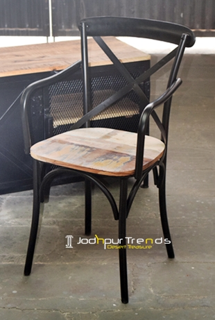 Cross Back Dining Armchair | Cafeteria Furniture Online