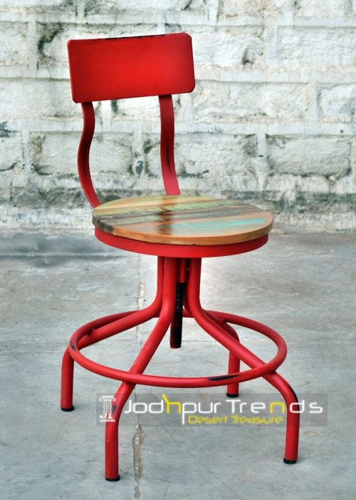 Drafting Chair in Red | Cafeteria Chairs Online India