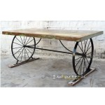 Designer Table with Wheel Base | Cafe Tables Wholesale