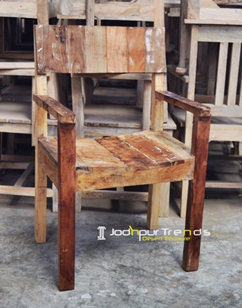 Reclaimed Wood Dining Chair Cafe Furniture Design Jodhpurtrends In
